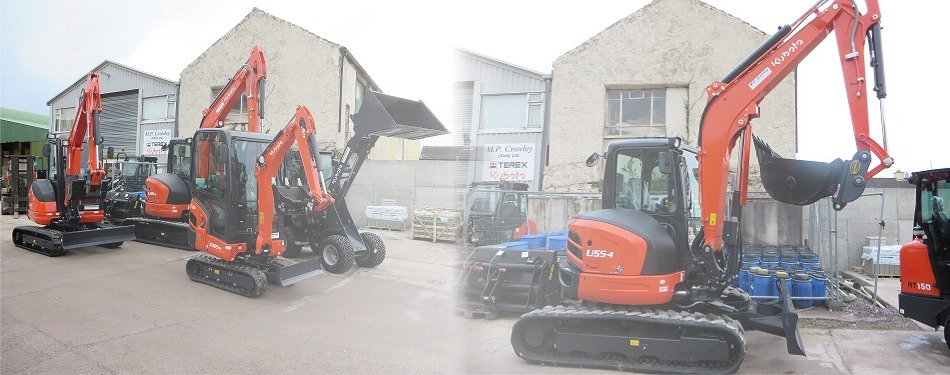 Kubota Agents for Mini Excavators & Wheel Loaders - MP Crowley, Cork, Ireland